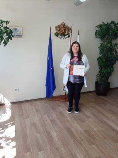 Награждаване на отличилите се в конкурсите, организирани от Община Казанлък по повод честването на 11 май и 24 май. - Изображение 2
